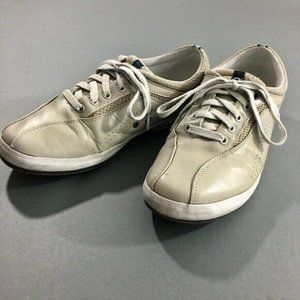 Keds Mens Beige Leather Low Top Shoes Sneakers 8.5